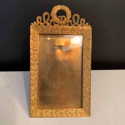 Photo Frame In Gilt Bronze Epoque XIX Eme Century.