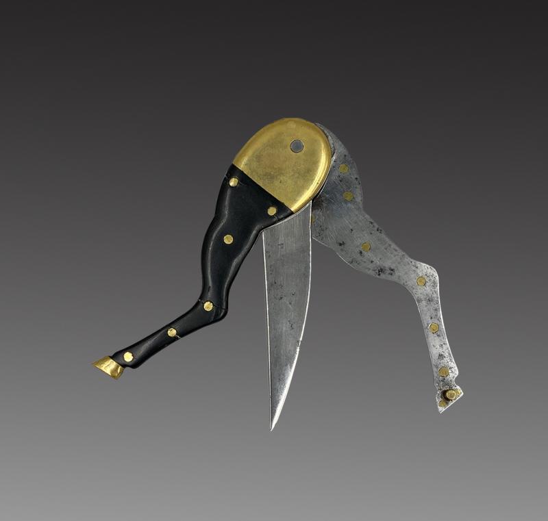 Couteau Pliant, Jambe De Cheval, France, XIXème-photo-2