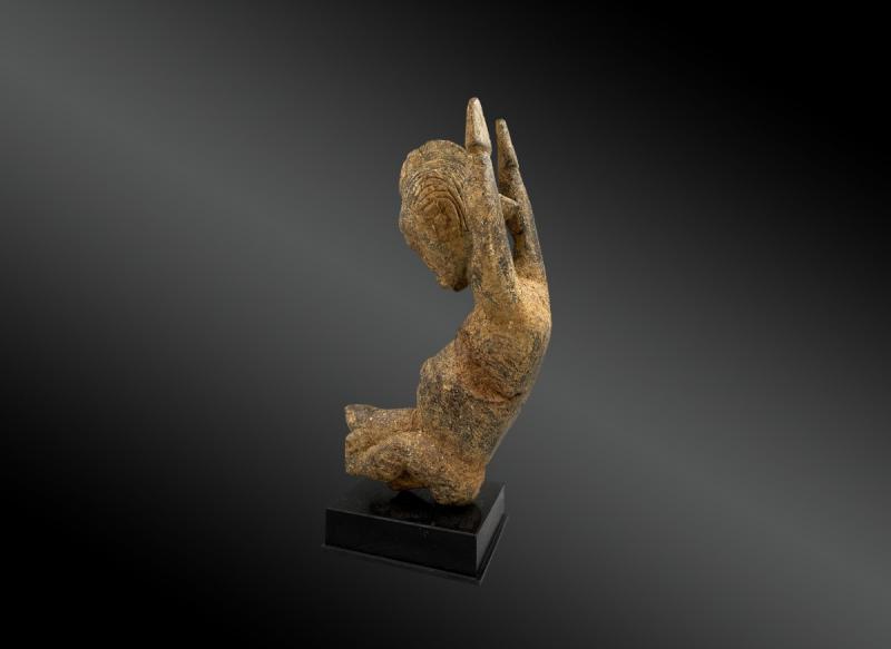 Statuette Anthropomorphe Culture Baoulé, Côte d'Ivoire Première Moitié Du XXème Siècle -photo-3