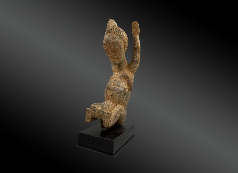 Statuette Anthropomorphe Culture Baoulé, Côte d'Ivoire Première Moitié Du XXème Siècle -photo-4