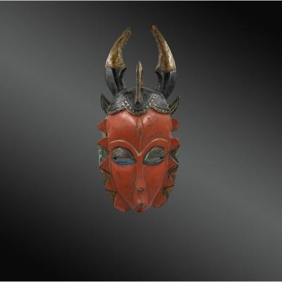 Anthropomorphic Yaouré Mask, Ivory Coast, First Half Of The 20th Century
