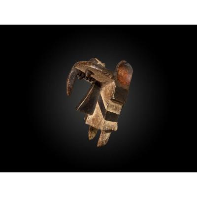 MASQUE ZOOMORPHE Ogbodo Enyi Culture Izi, Nigéria  Première moitié du XXème siècle
