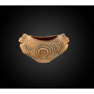 Cup With Zoomorphs Taino Culture, Dominican Republic