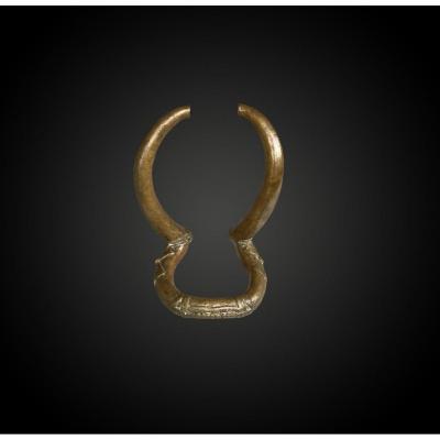 Bracelet Culture Kenga, Tchad XXème Siècle Alliage Cuivreux