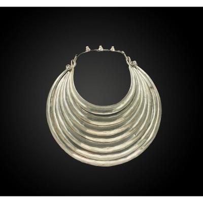 Ceremonial Torque In Silver Miao Culture, Hmong, South China