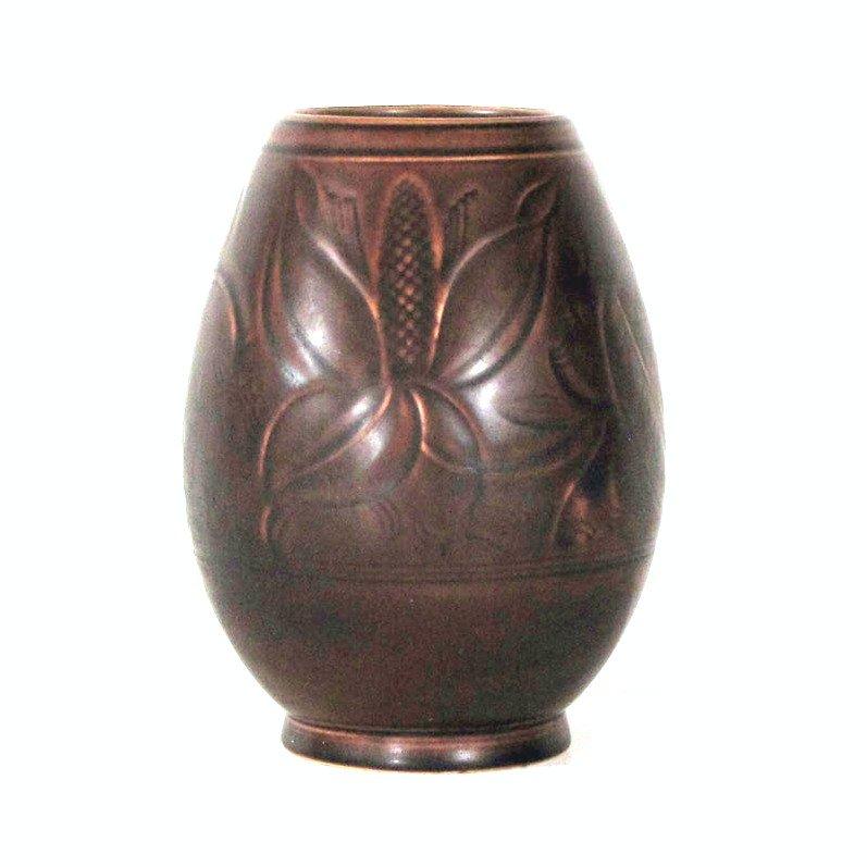 Vase Art Déco Aluminia Royal Copenhague