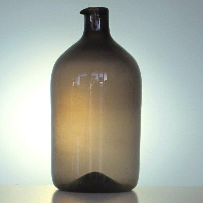 """Timo Sarpaneva Iittala Finland """"bird's Beak"""" Glass Vase 1957"""