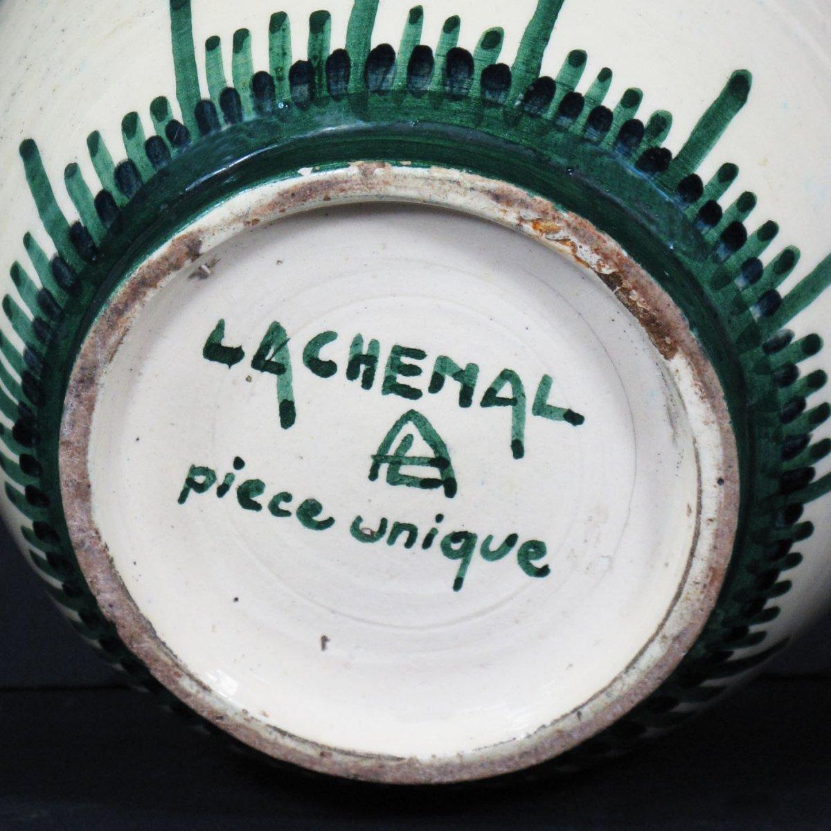 Art Deco Earthenware Vase By Raoul Lachenal, Unique Piece-photo-2