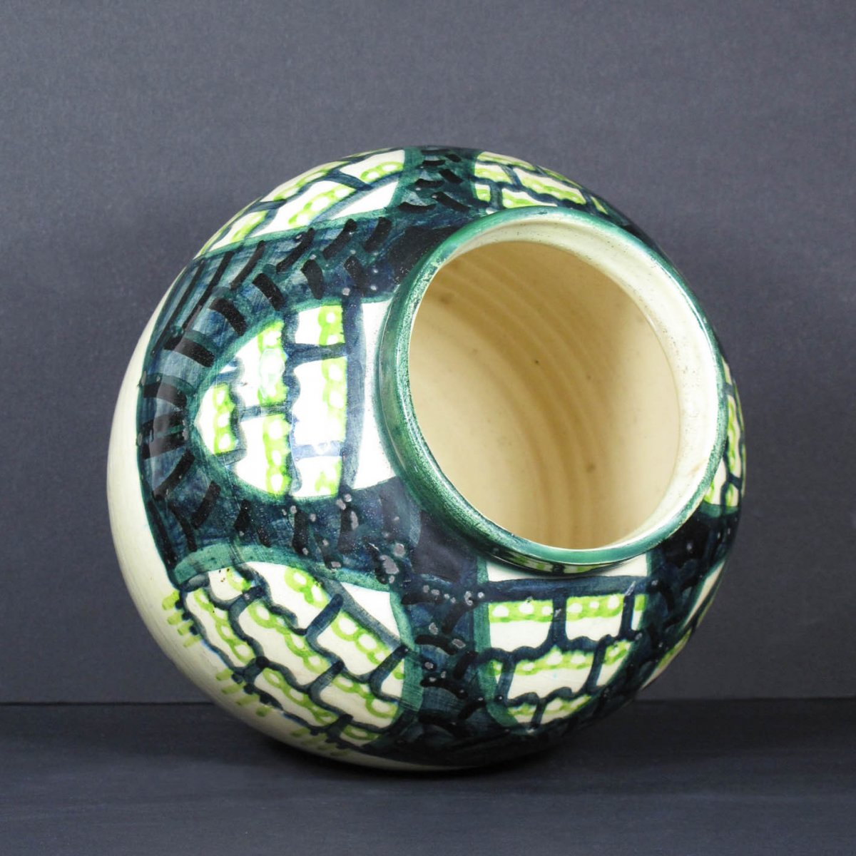 Art Deco Earthenware Vase By Raoul Lachenal, Unique Piece-photo-3