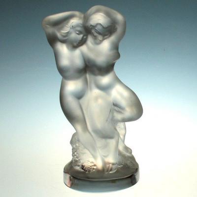 Lalique Nude Dancing Lovers Figurine 60s