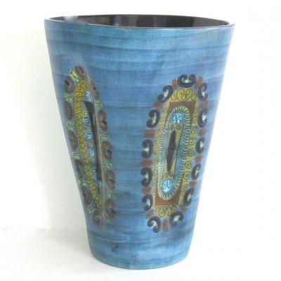 Huge French Ceramic Vase By Jean De Lespinasse 60s