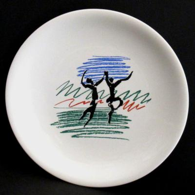 Picasso Earthenware Plate Labeled  Salins France