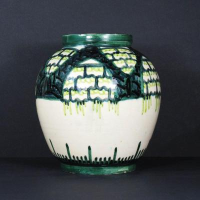 Art Deco Earthenware Vase By Raoul Lachenal, Unique Piece