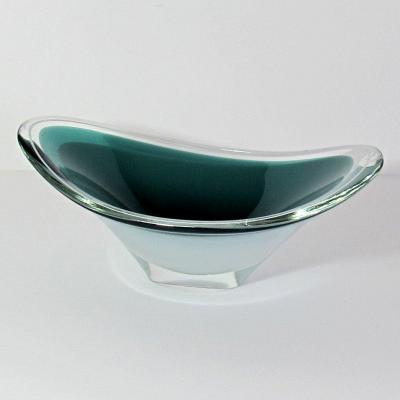 "Large Glass Bowl ""coquille"" Flygsfors 1957"
