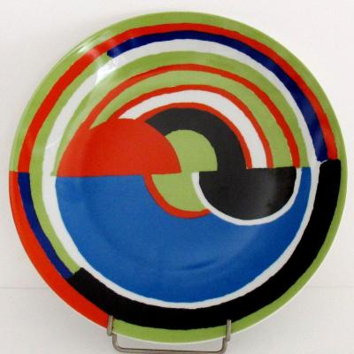 """""""signal"""" Limoges Porcelain Dish By Sonia Delaunay"""