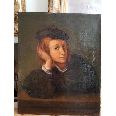 Portrait De Jeune Homme 18ème