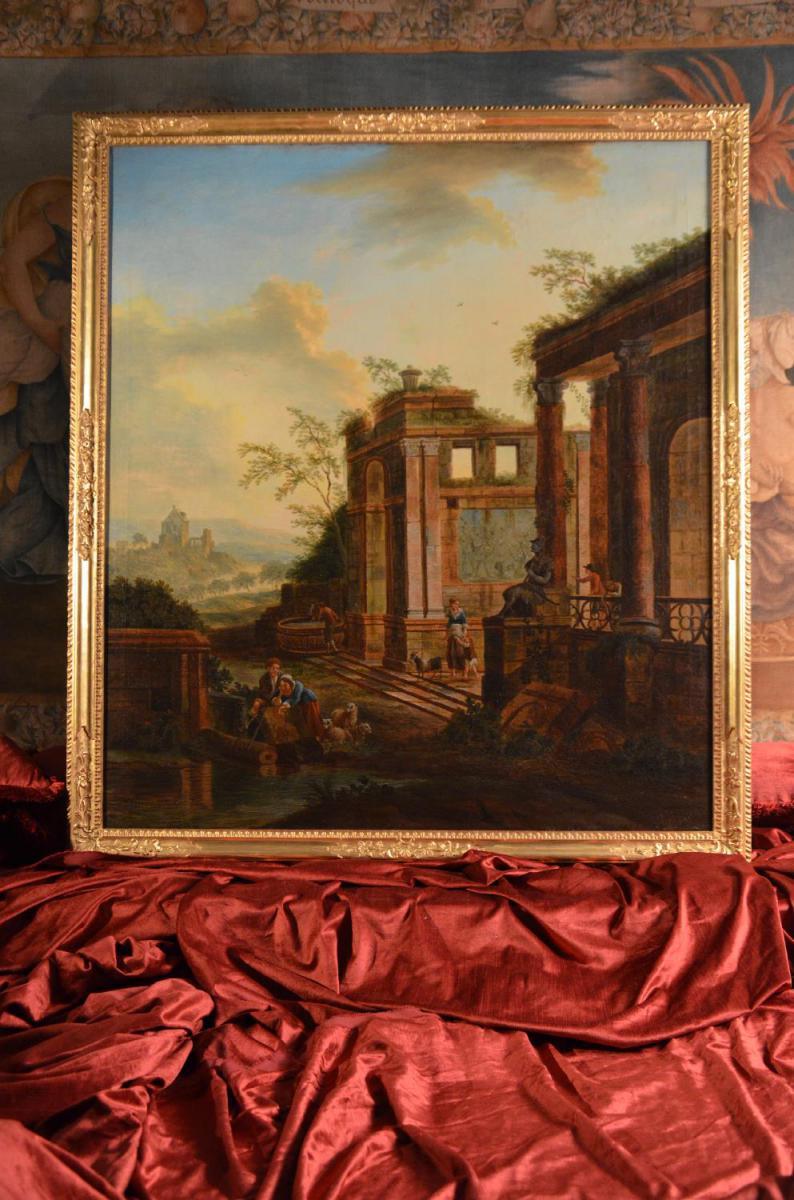 Caprice Architectural, Charles Louis Clérisseau, XVIIIème Siècle-photo-2
