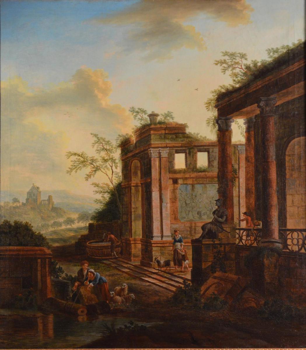 Caprice Architectural, Charles Louis Clérisseau, XVIIIème Siècle-photo-3