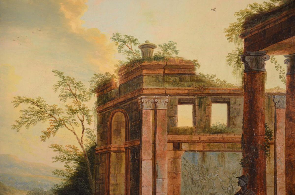 Caprice Architectural, Charles Louis Clérisseau, XVIIIème Siècle-photo-4