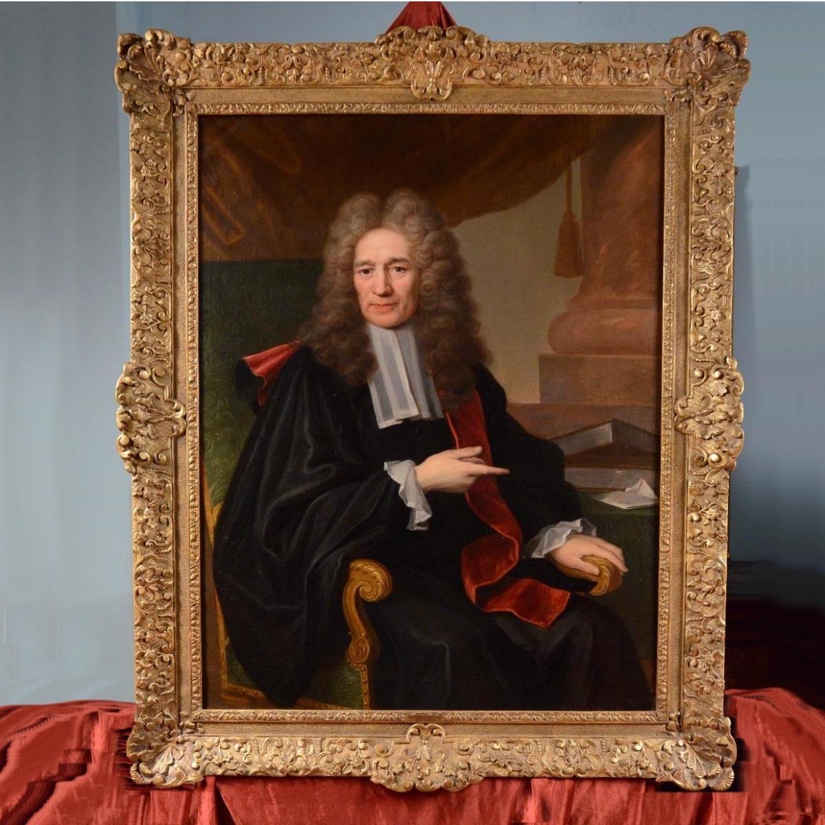 Grand Portrait De Magistrat, XVIIIème Siècle