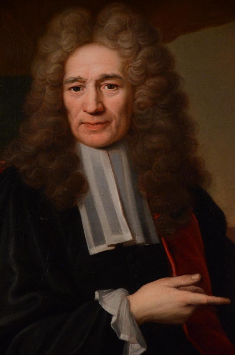Grand Portrait De Magistrat, XVIIIème Siècle-photo-2