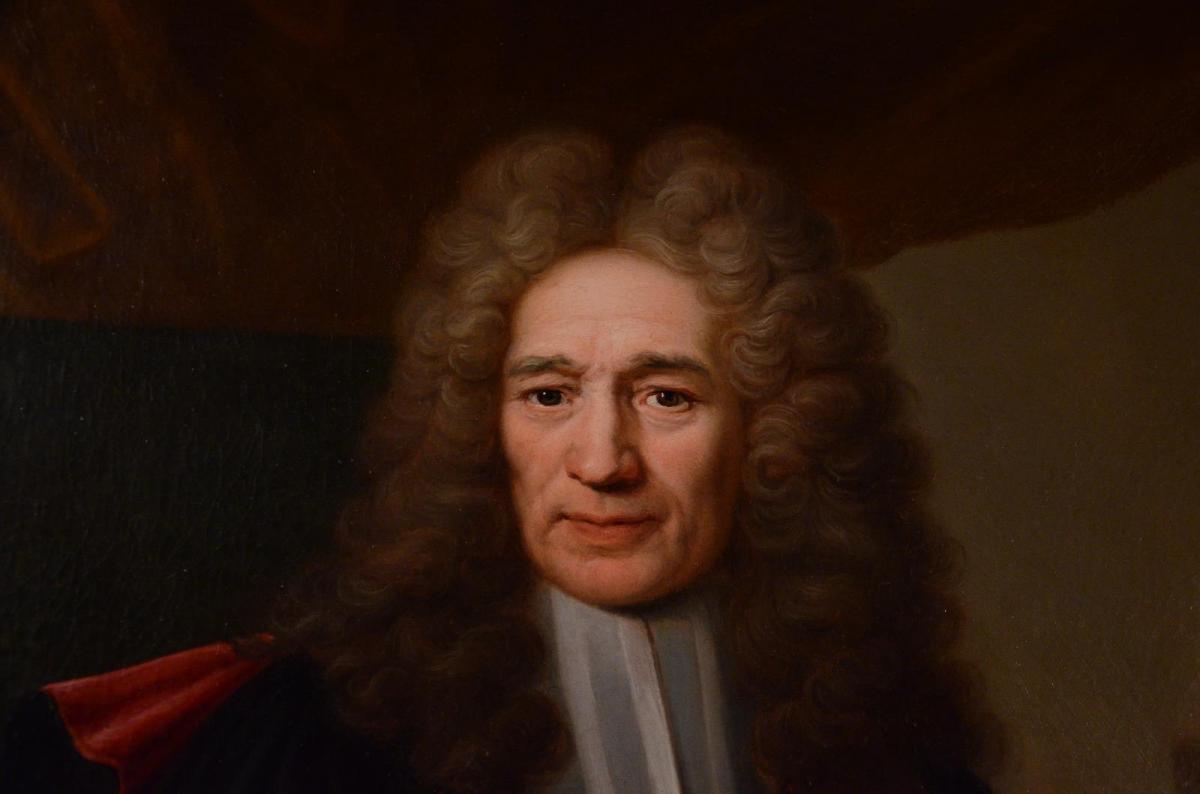 Grand Portrait De Magistrat, XVIIIème Siècle-photo-3