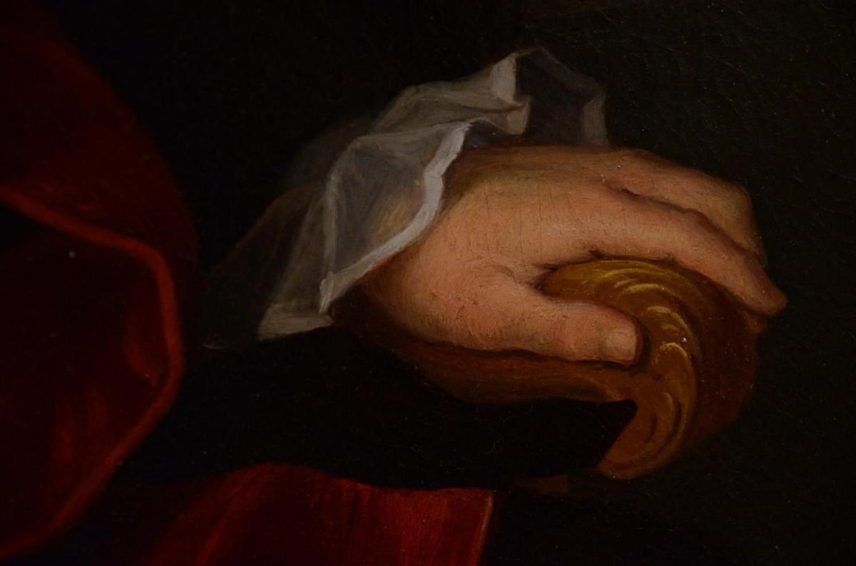Grand Portrait De Magistrat, XVIIIème Siècle-photo-4