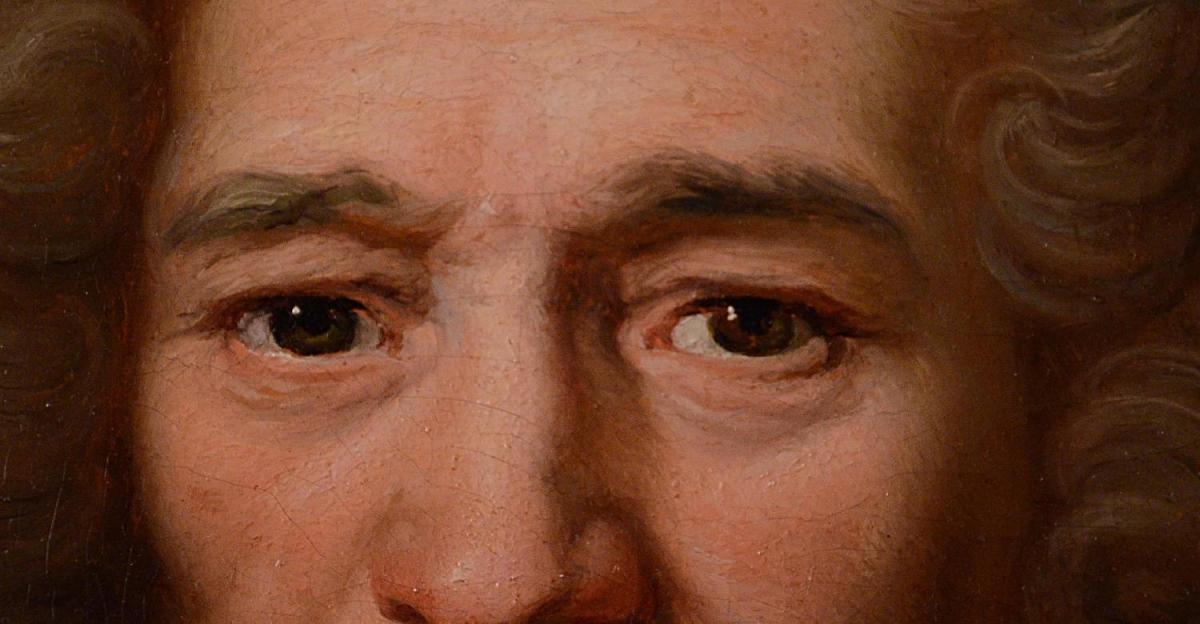 Grand Portrait De Magistrat, XVIIIème Siècle-photo-1