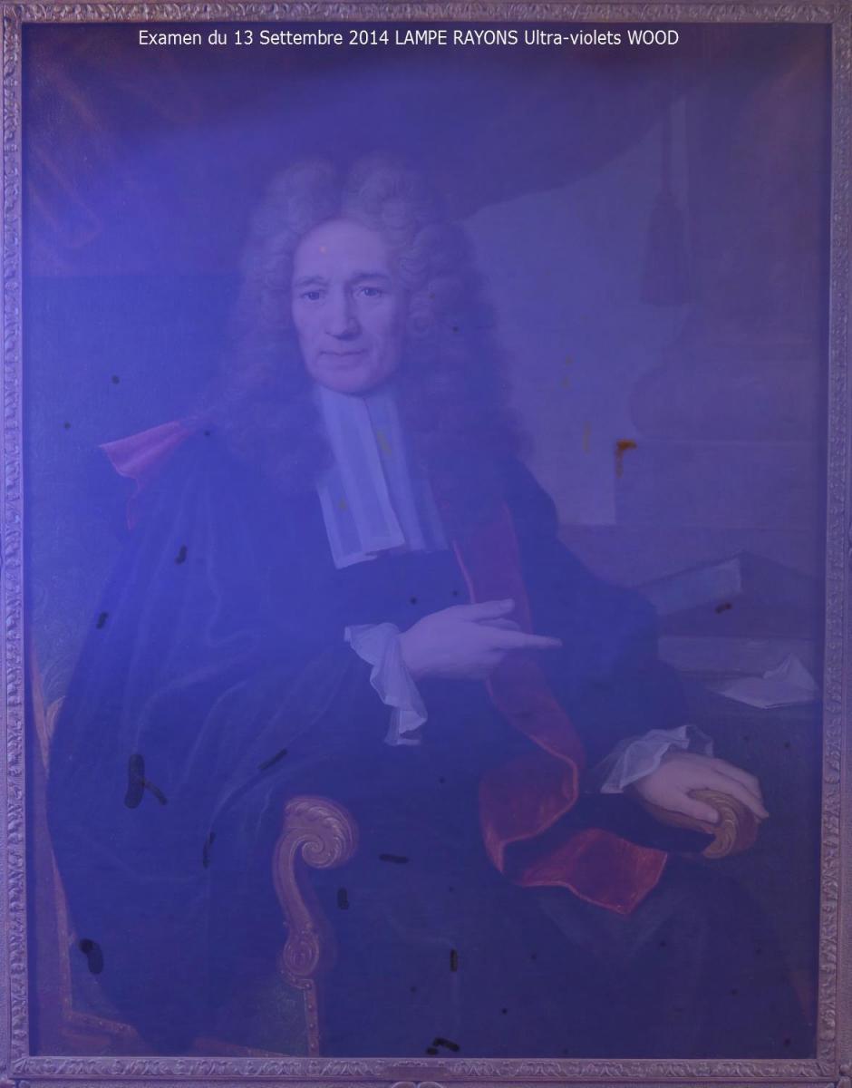 Grand Portrait De Magistrat, XVIIIème Siècle-photo-5
