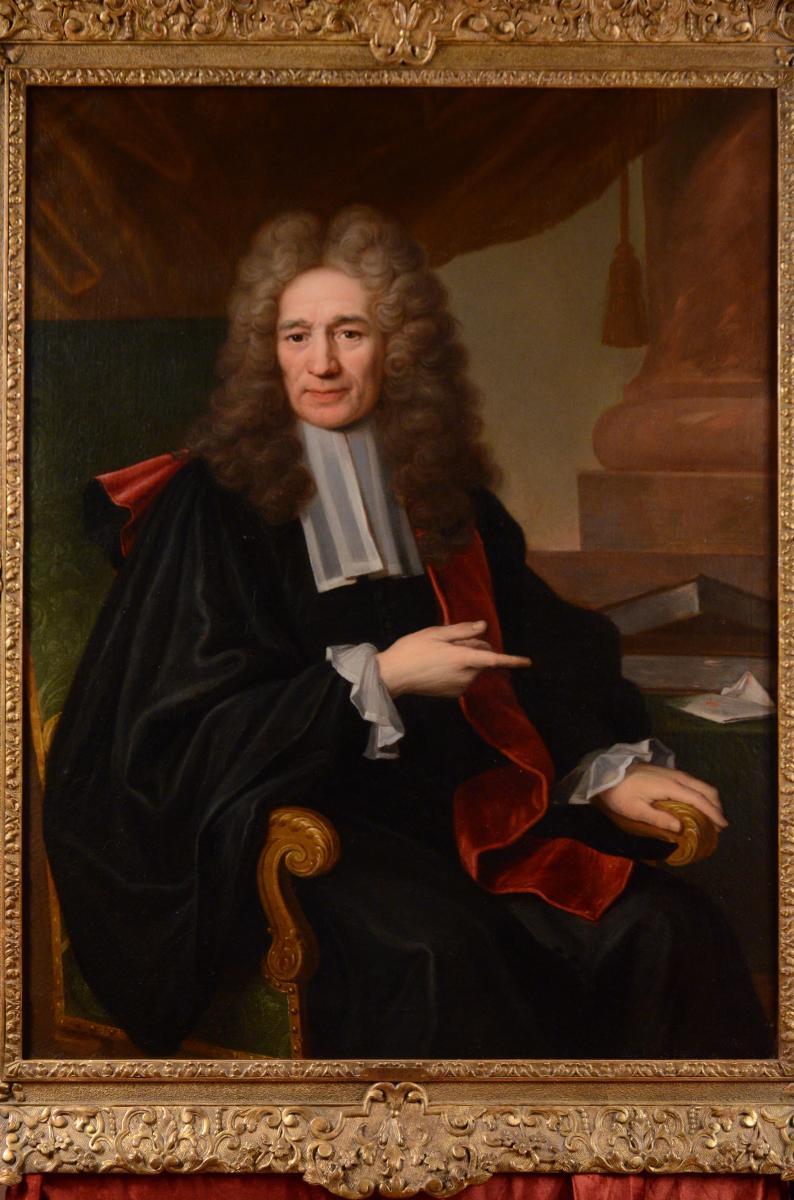 Grand Portrait De Magistrat, XVIIIème Siècle-photo-6