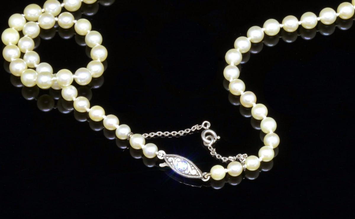 Collier de perles japonais XXe siècle-photo-2