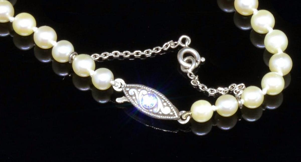 Collier de perles japonais XXe siècle-photo-3