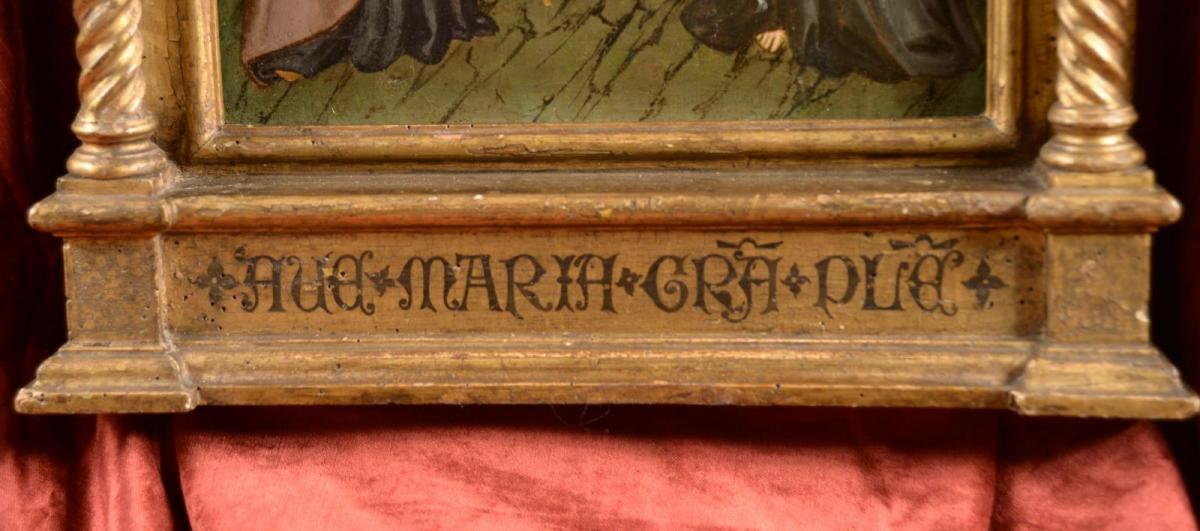 Tableau Tempera à l'oeuf Sur Bois Maître Sant'ivo Florence XIVe Siècle-photo-1