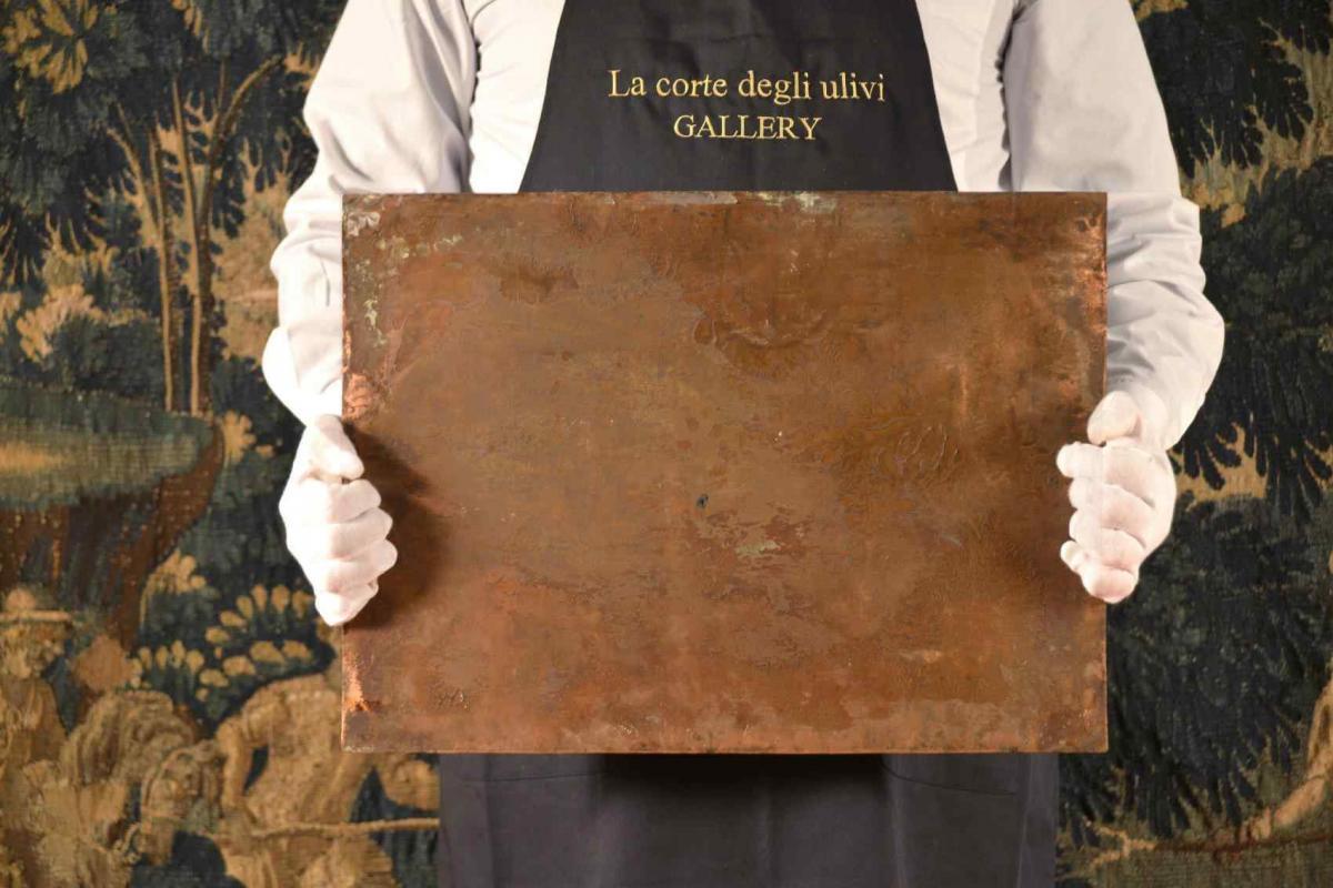 Déposition du Christ huile sur cuivre-photo-4