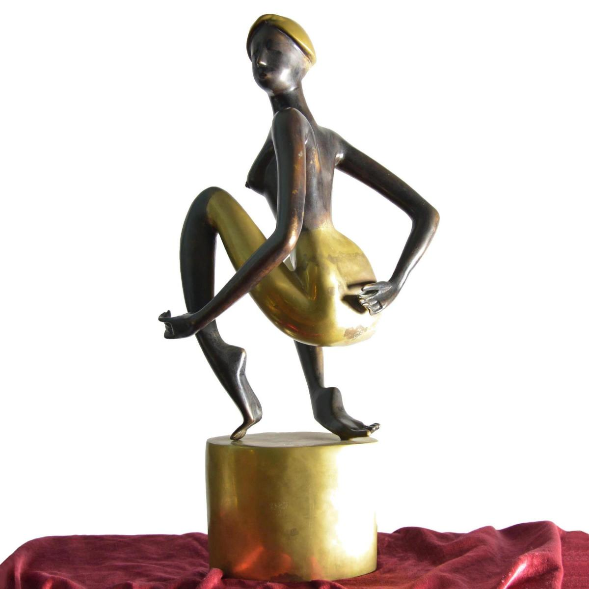Bronze Sculpture, Representative Woman 1930, Signed