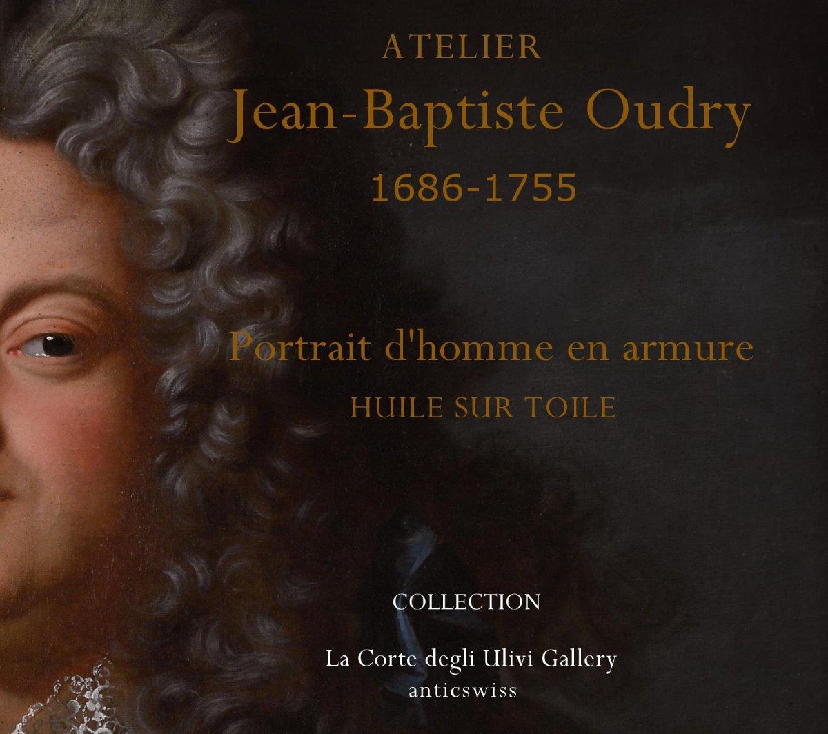 Portrait d'Un Noble En Armure, Atelier De Jean-baptiste Oudry 1686-1755 -photo-1