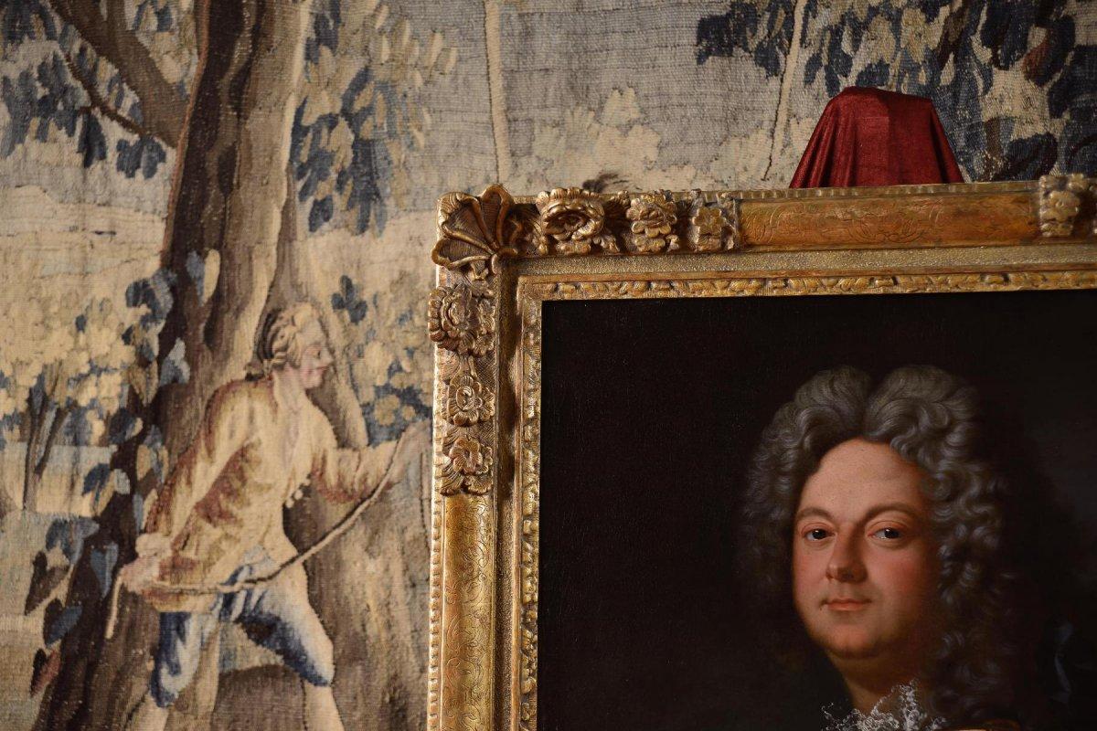 Portrait d'Un Noble En Armure, Atelier De Jean-baptiste Oudry 1686-1755 -photo-5