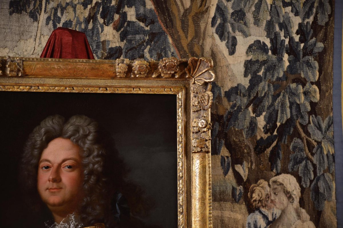 Portrait d'Un Noble En Armure, Atelier De Jean-baptiste Oudry 1686-1755 -photo-6