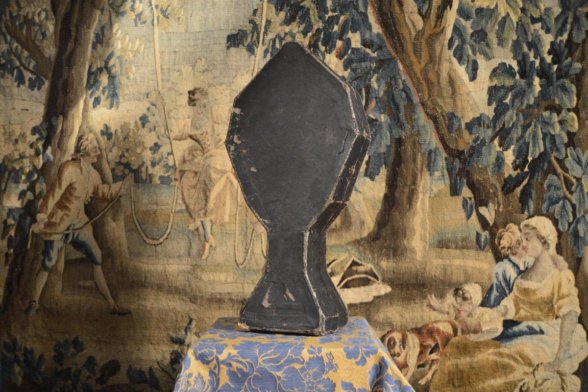 Ostensoir Antique En Argent Doré Du XVIIIe Siècle-photo-2