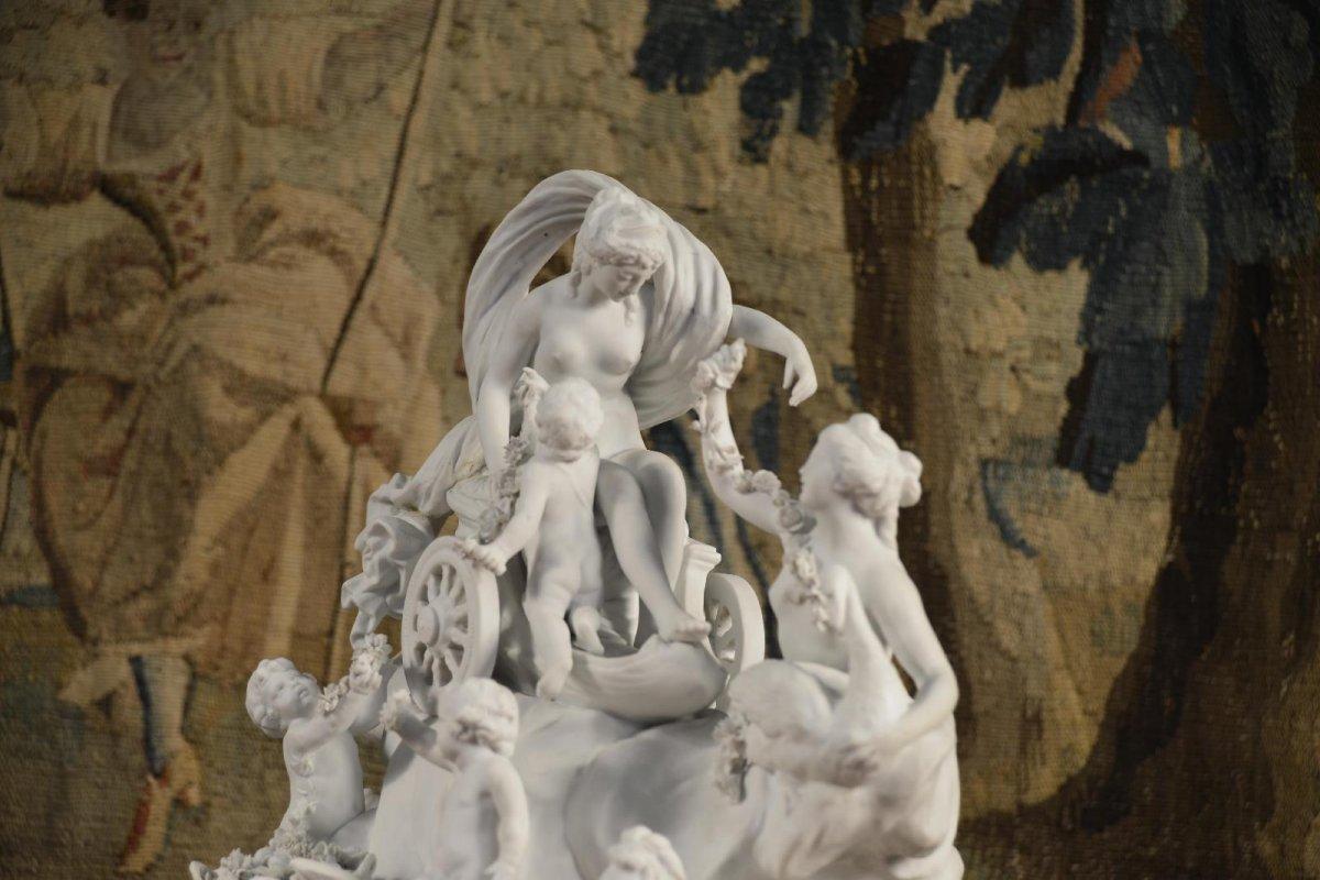 Le Char De Aphrodite, Sculpture De Sèvres Fin Du XVIIIe Siècle-photo-4