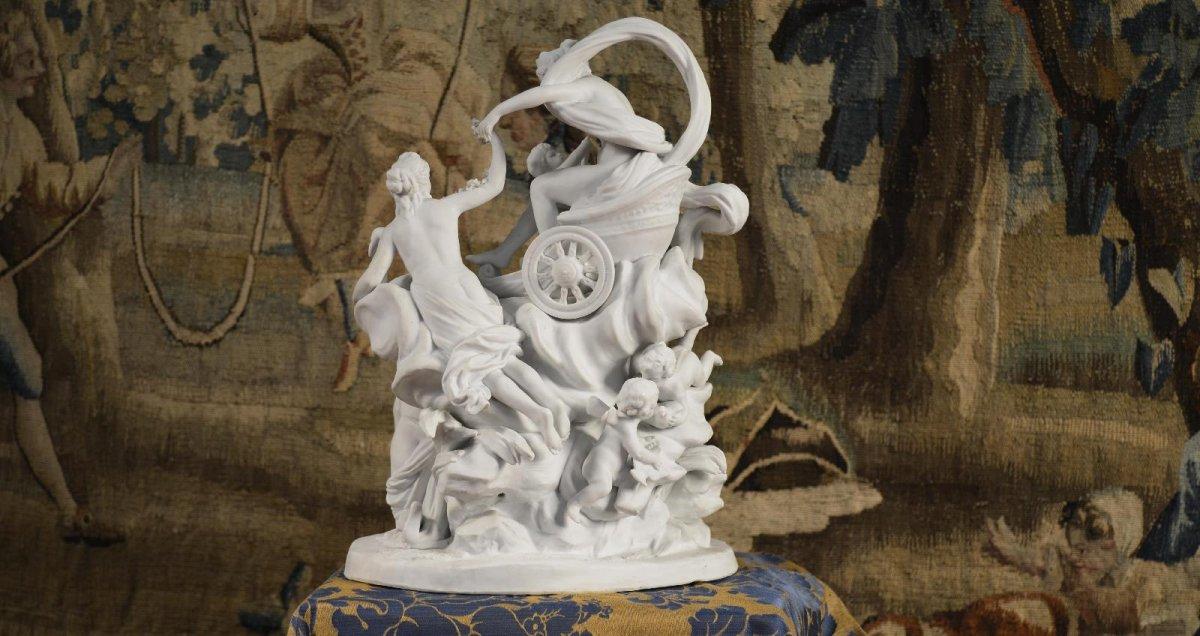 Le Char De Aphrodite, Sculpture De Sèvres Fin Du XVIIIe Siècle-photo-6