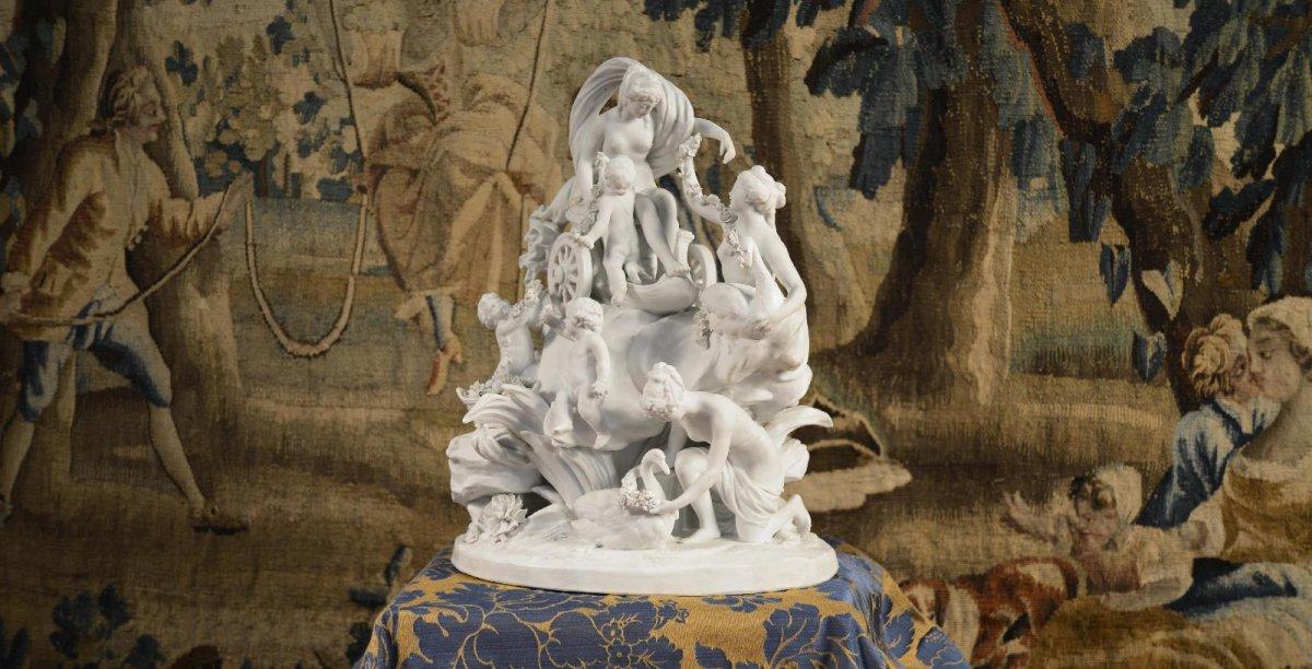 Le Char De Aphrodite, Sculpture De Sèvres Fin Du XVIIIe Siècle-photo-7