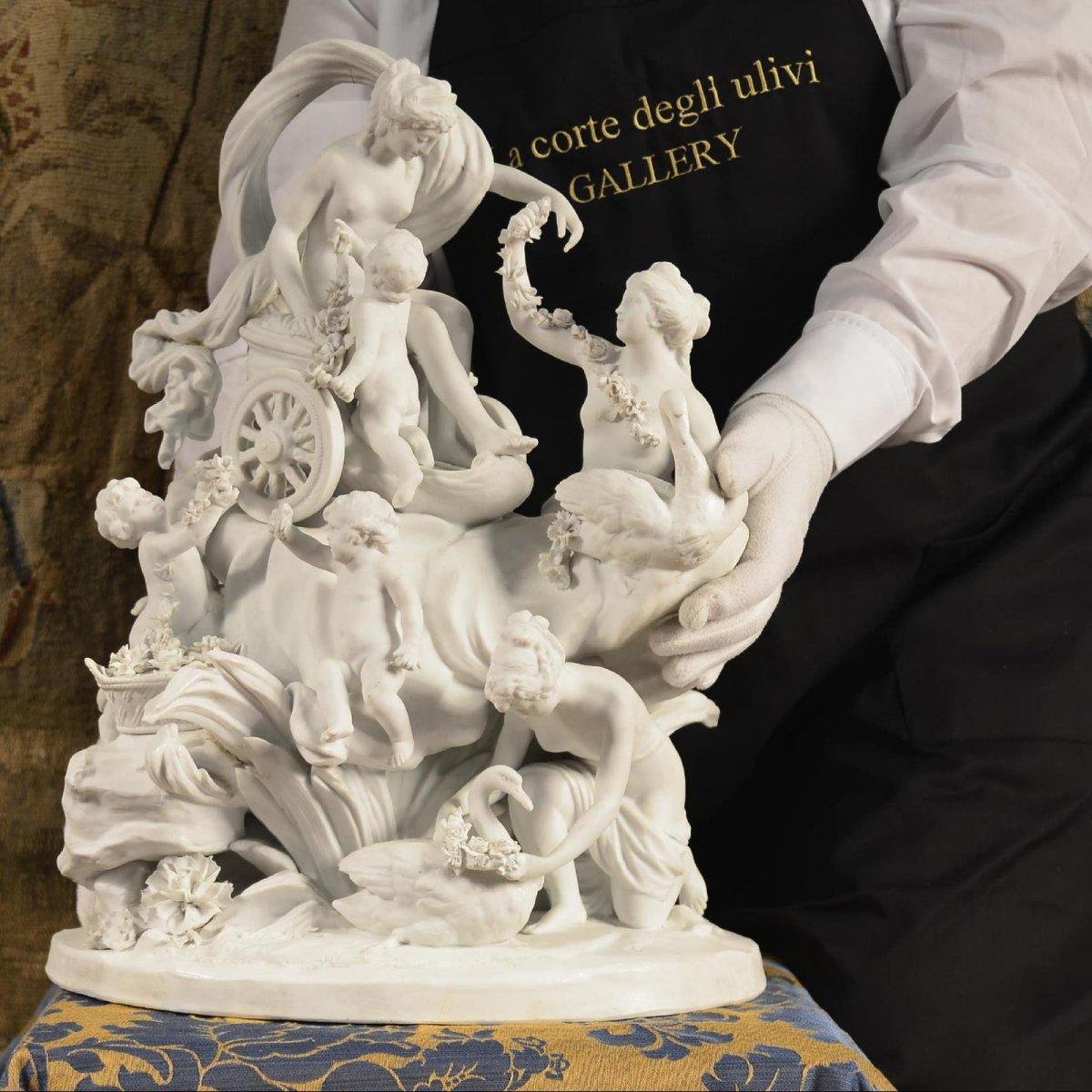 Le Char De Aphrodite, Sculpture De Sèvres Fin Du XVIIIe Siècle-photo-8