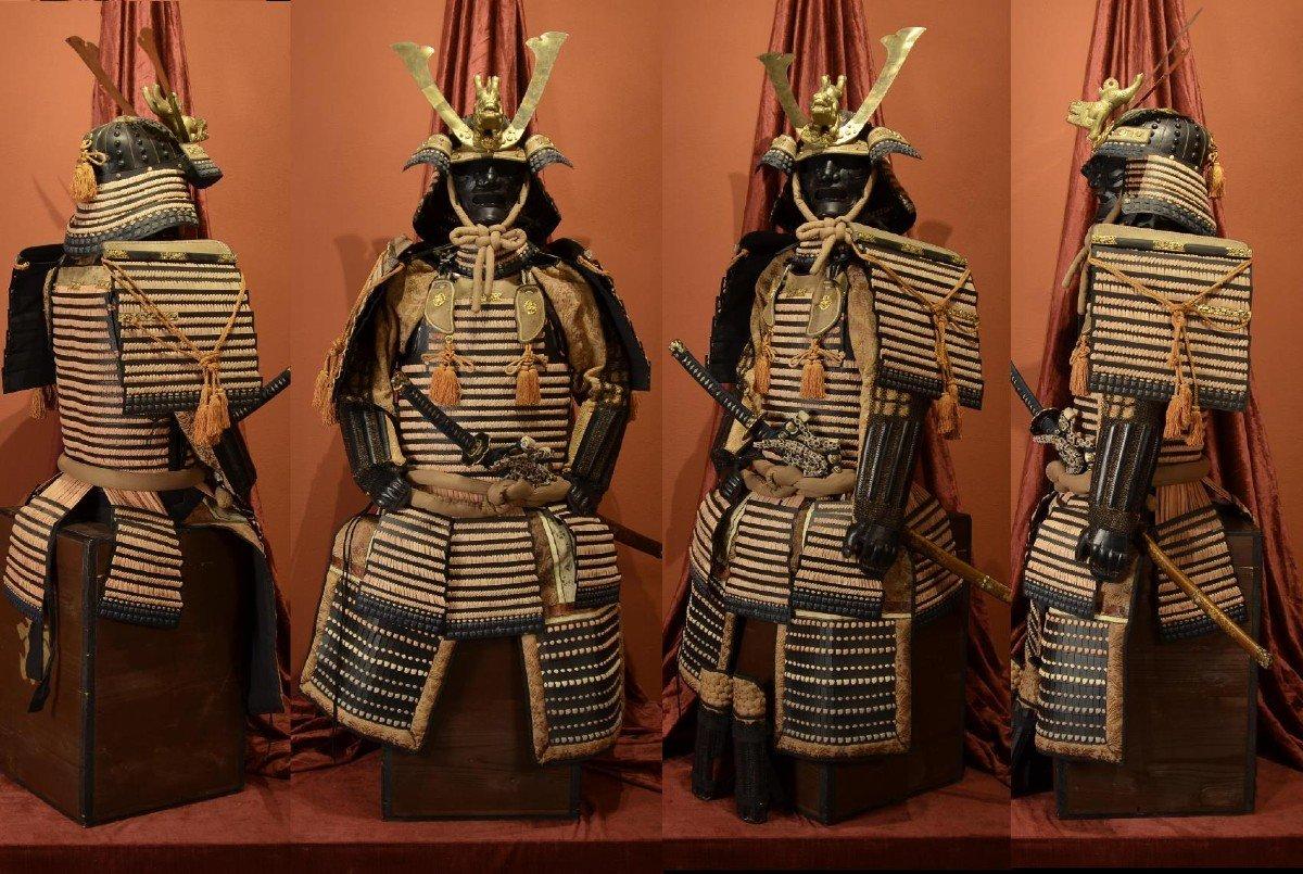 Armure Complète De Guerrier Samouraï-photo-1