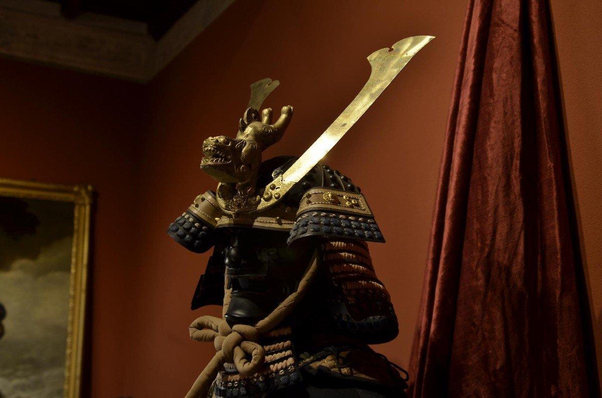 Armure Complète De Guerrier Samouraï-photo-3