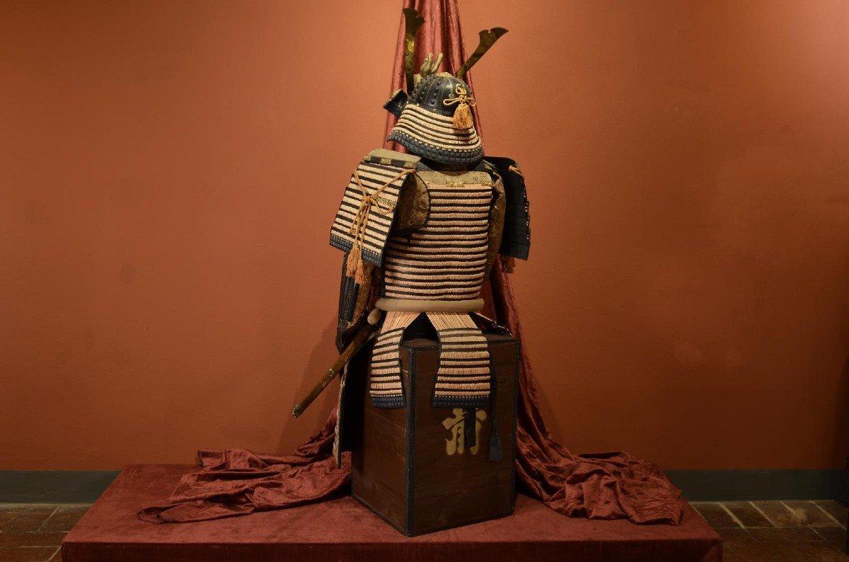 Armure Complète De Guerrier Samouraï-photo-5