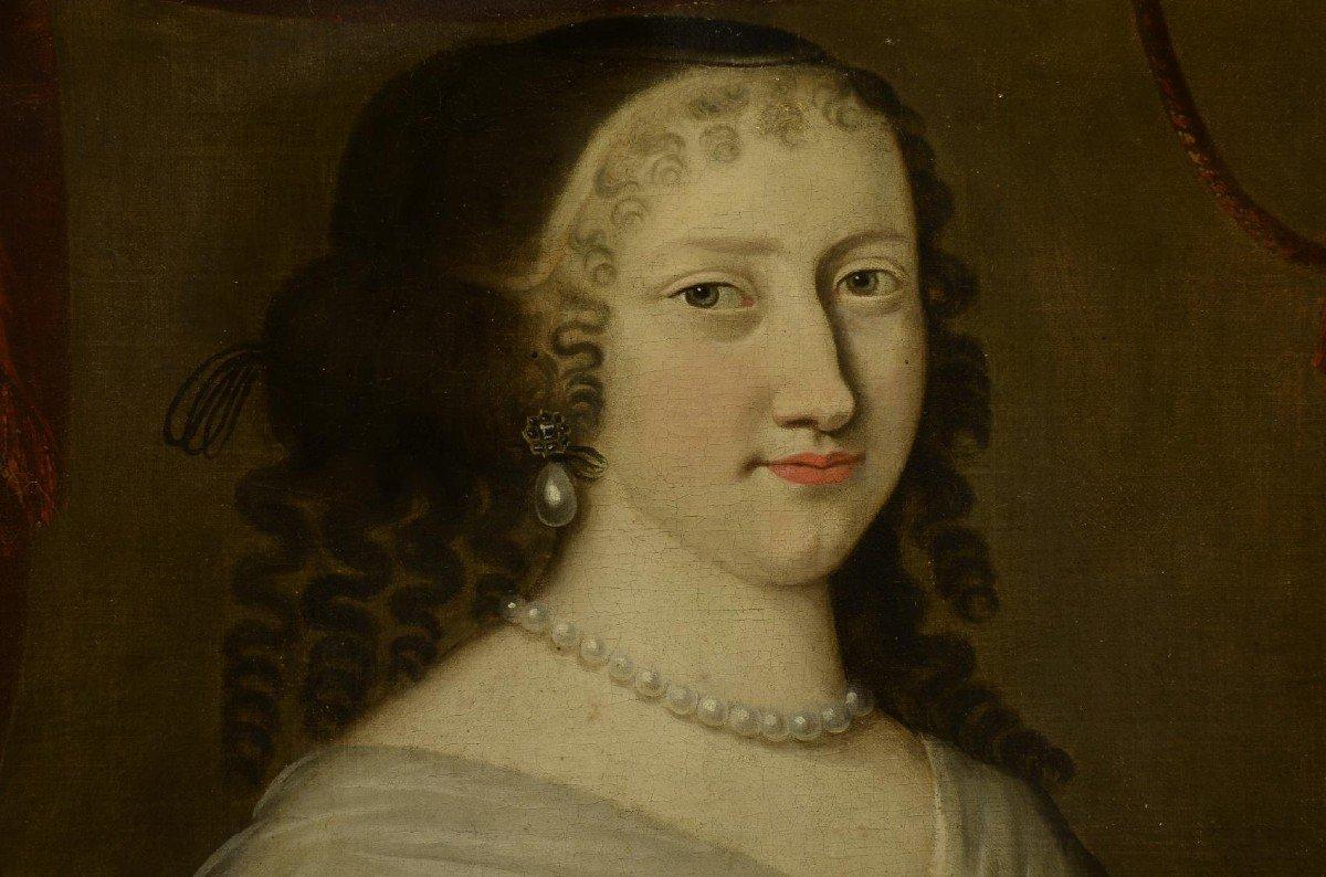 Portrait d'Une Femme,  Jacobs Van Den Tempel  ( 1622 -1672)-photo-1