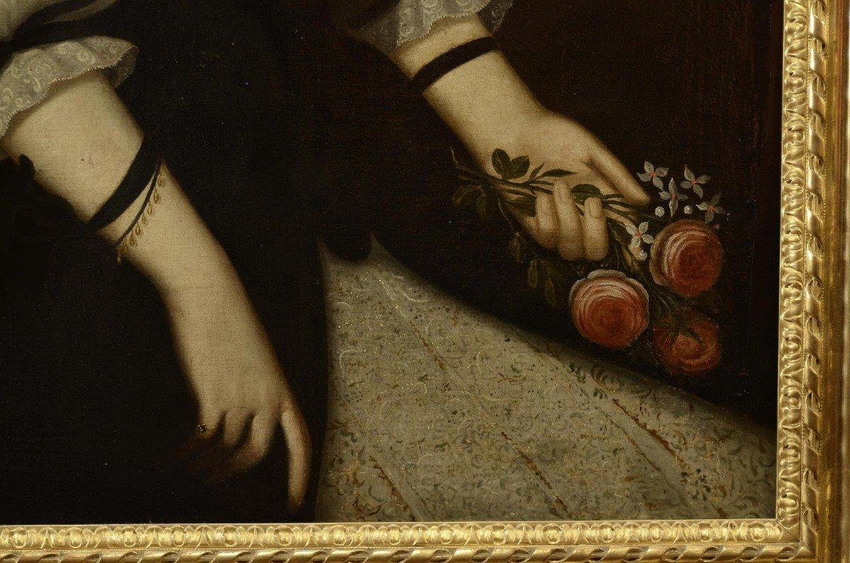 Portrait d'Une Femme,  Jacobs Van Den Tempel  ( 1622 -1672)-photo-5