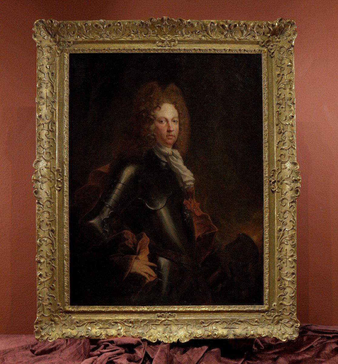 Début Du XVIIIe Siècle, Portrait d'Un Chevalier En Armure, François Jouvenet