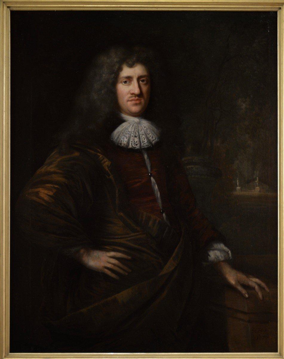 Tableau Signé Par Jan De Baen, Portrait d'Un Gentilhomme -photo-1